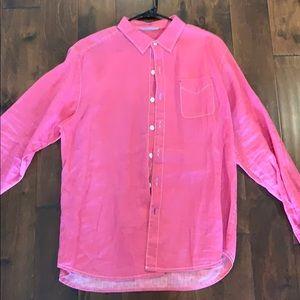 Tommy Bahama XL Linen Pink Shirt